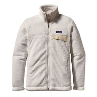 Patagonia Women's Full-Zip Re-Tool Fleece Jacket | Raw Linen - White X-Dye
