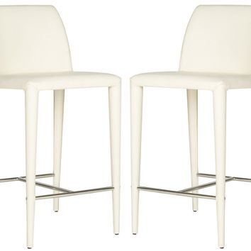 Garretson Counter Stool Beige Linen (Set of 2)