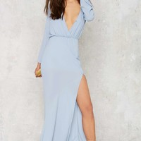 Necking Order Maxi Dress