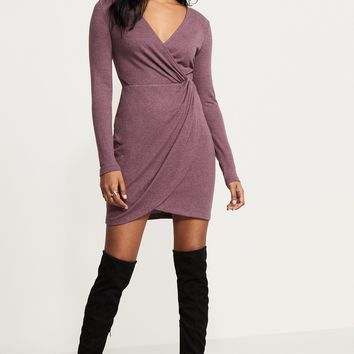 Knotted Wrap Dress