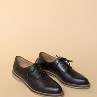 Seychelles Hoodlum Oxfords / Black Leather