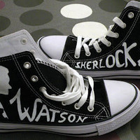 Johnlock shoes, converse style.