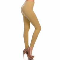 Basic Leggings in Tan