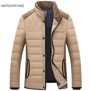 Men's Duck Down Jacket Snow Warm Clothing Man Down Jackets Stand Collar  Overcoat
