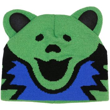 Grateful Dead Men's Green Bear Beanie Green