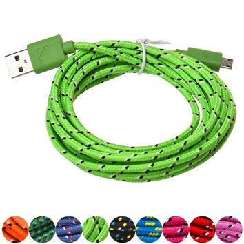 1M/10FT Micro USB Charger Sync Data Cable Cord for Cell Phone Lightgreen Magic