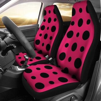Pink Polka Dots Design Seat Covers