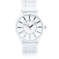 River Island MensWhite simple face watch