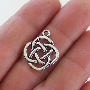 8 Celtic knot charms, celtic knot charm, celtic knot pendant, celitc symbol, celtic jewelry, irish charms, st pattys day, eternal knot, F375