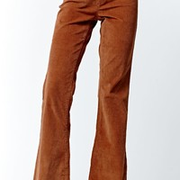 LA Hearts Corduroy Flare Pants - Womens Pants - Brown
