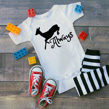 Harry Potter Snape Patronus, Always, Infant Onesuit, infant clothing, Wizard, wizarding, HP, Hogwarts, muggle, magic, Potter, spells