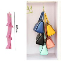 New Year Wardrobe Closet Hanger Storage Organizer Closet Rack Hangers With 5 Pockets Christmas Gifts Bag Purse Handbag Tote Bag