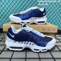 DCCK2 N168 Nike Air Max 95 HYP PRM Anniver Flyknit Causal Running Shoes White Blue