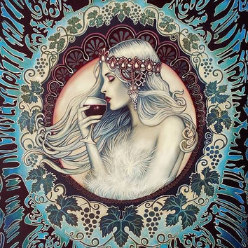 Khione Greek Goddess of Winter Art Nouveau 11x14 Print