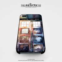 Dr Who Tardis Watercolor case for iPhone, iPod, Samsung Galaxy, HTC One, Nexus