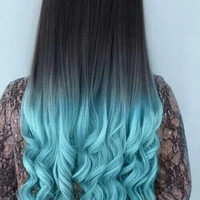 Black to Blue Human Hair Extensions