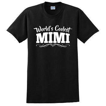 World's coolest mimi Mother's day birthday gift ideas for new grandma proud grandmom gifts for her T Shirt