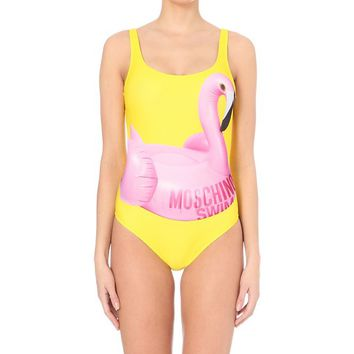 MOSCHINO - Flamingo logo-print swimsuit | Selfridges.com