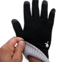 SwypeGloves Black Texting Gloves - 'Streets of New York' Touchscreen Gloves
