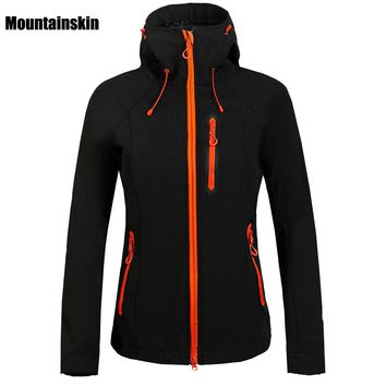 Women  Winter  Fleece Softshell Jacket