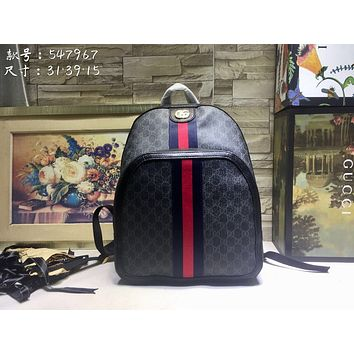 a98296e9411 Gucci Women Men Fashion Leather File Bag Tote Briefcase Crossbod