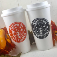 Pumpkin Spice Everything To Go Coffee Tumbler-Coffee Cup-Coffee Mug-Coffee Lover Gift-Coffee Gift-Pumpkin Spice And Everything Nice-Fall