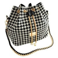 VonFon Bag Work Place Folk Style Chain Bag Black