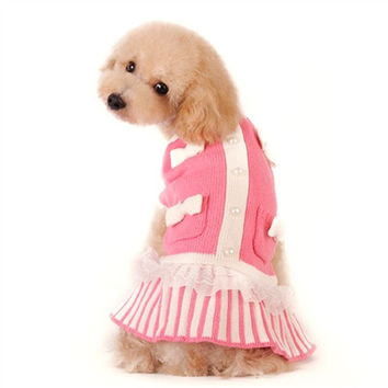 Sweet Lady Dog Sweater Dress