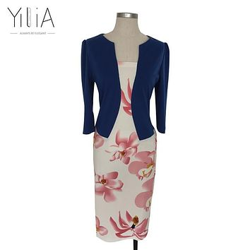 Floral Print Elegant Business Dress  FREE SHIPPING!!!!
