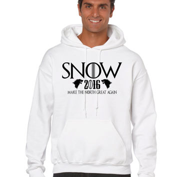 Snow 2016 Make The North Great Again men Hoodie