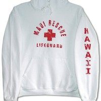 RJC Maui Rescue Lifeguard Unisex Hooded Sweatshirt