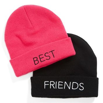 Junior Women's BP. 'Bestie' Beanie Set (Set of 2)