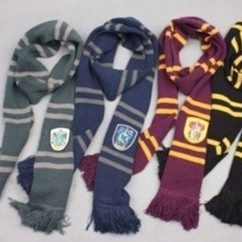 Harry Potter Gryffindor Slytherin Hufflepuff Ravenclaw House Cosplay Scarf Collections [7939277831]