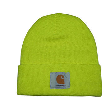 Carhartt Women Men Embroidery Winter Beanies Knit Hat Cap