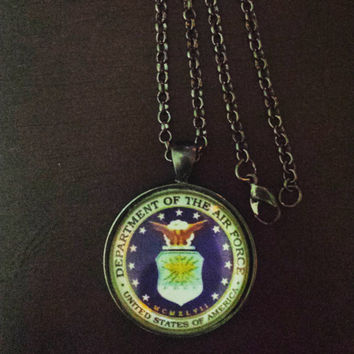 United States Air Force military necklace