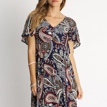 Paisley Walls Printed Dress | Ruche