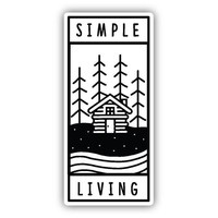 Simple Living Sticker