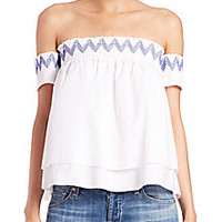 Rebecca Minkoff - Pia Off-The-Shoulder Top - Saks Fifth Avenue Mobile