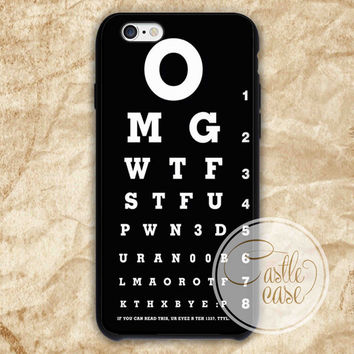 Optometry iPhone 4/4S, 5/5S, 5C Series Hard Plastic Case