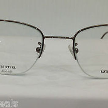 NEW AUTHENTIC GIORGIO ARMANI GA 10 COL 2F2 BROWN METAL EYEGLASSES FRAME 53MM