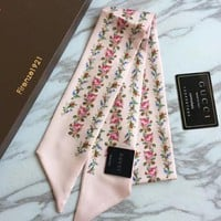 Gucci Women Scarf Shawl Silk Scarf