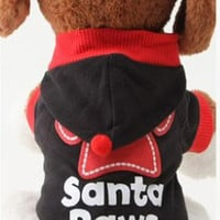 """Christmas """" Santa Paws"""" Outfit for Dogs (S, M, L)"""