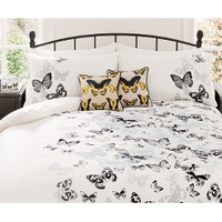 George Home Monochrome Butterfly Duvet Set - Single | Bedding | ASDA direct