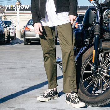 VIISHOW Men Casual Pants Men Trousers Military Pants Male Army green Cotton Trousers KC1101171