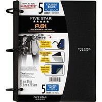Five Star Flex® Refillable Notebook, 5 Subject, College Ruled, 11