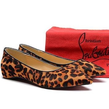 Cl Christian Louboutin Fashion Low Heeled Shoes