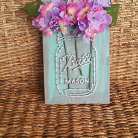 Mason Jar String And Nail Art Flower Vase Mother 39 S Day Gift