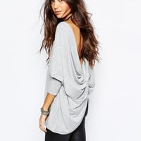 Rokoko Long Sleeve Top With Cross Wrap Back Detail
