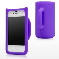 BoxWave iPhone 4S FlexiMug - The Soft Silicone Mug Case Cover for the Apple iPhone 4S (Poetic Purple)
