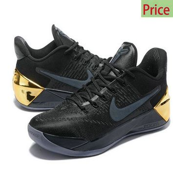Sneaker paint Kobe 12 XII AD 2017 Black Mamba Day Metallic Gold sneaker